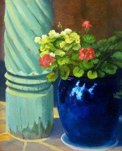 """Tom Gardner """"Santa Fe Flowers and Pillar"""" 20x16 oil $1,400."""