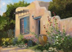 "Tom Gardner ""Santa Fe Home"" 18x24 oil $1,800."