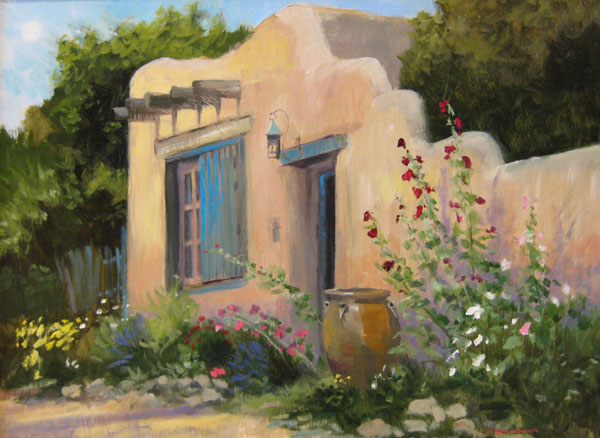 "Tom Gardner ""Santa Fe Home"" 18x24 oil $1,800."