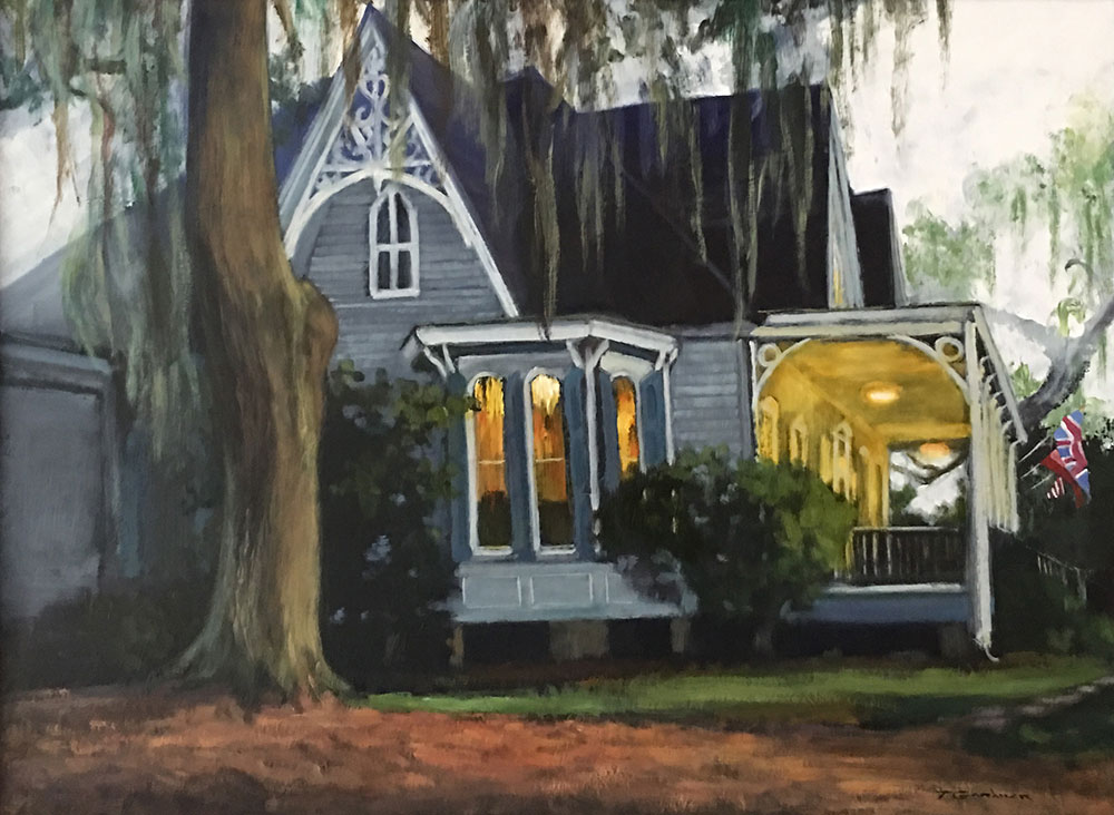 "Tom Gardner ""Spanish Moss"" 18x24 oil $1,800."
