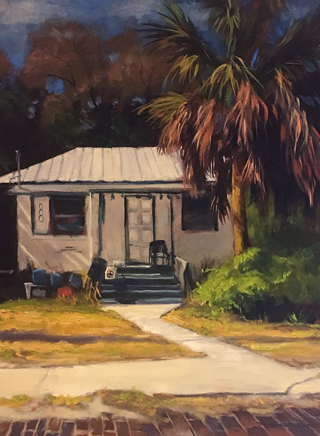 "Tom Gardner ""Tin Roof, Florida"" 24x18 oil $1,800."