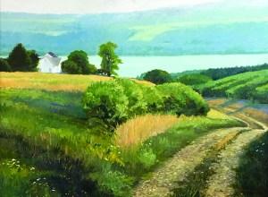 "Tom Gardner ""Vineyard Road"" 36x48 oil $4,400."