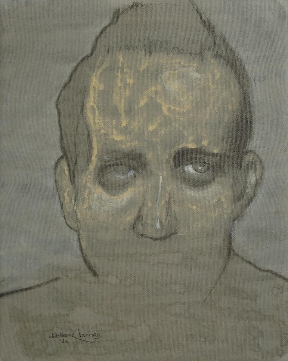 "Edd Tokarz Harnas ""Slow-Twitch"" 10x8 pencil/acrylic on gallery wrapped canvas $170."