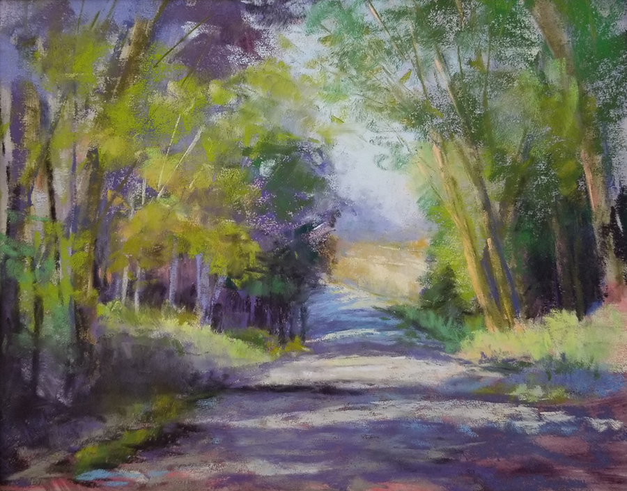 "Linda Hansee ""The Road to Lee's Farm"" 8x10 pastel $300. SOLD"