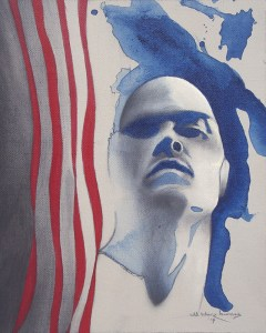 "Edd Tokarz Harnas ""Defiant, In the Face Of"" 10x8 pencil/acrylic on canvas $170."