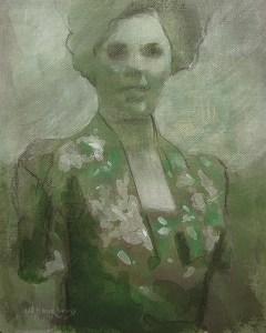 "Edd Tokarz Harnas ""Faded Memory"" 10x8 pencil/acrylic on canvas $170."