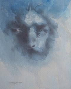 """Edd Tokarz Harnas """"Lex Talionis"""" 10x8 pencil/acrylic on canvas $170."""