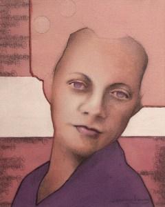 """Edd Tokarz Harnas """"Popmaster"""" 10x8 pencil/acrylic on canvas $170."""