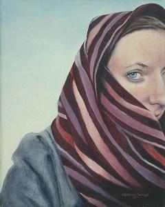 """Edd Tokarz Harnas """"Probably Nijmegen"""" pencil/acrylic on canvas $200. Inquire on size"""