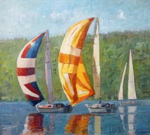 "Brian Hart ""Catching Wind"" 10x12 acrylic $850."