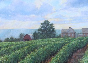 "Brian Hart ""Dr. Frank's Vineyard"" oil painting"