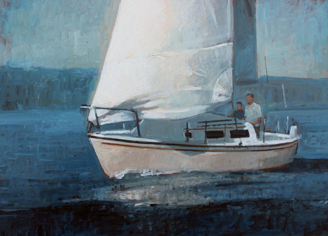 "Brian Hart ""The Crossing"" 8x12 acrylic $810."