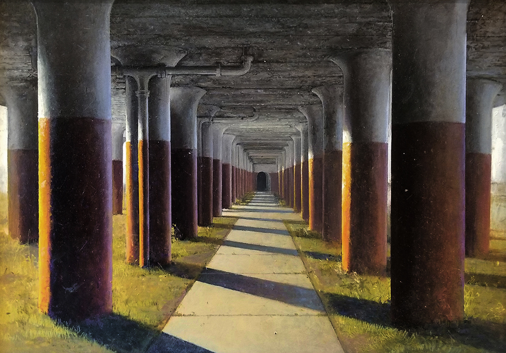 "David Higgins ""Columns"" 20x30 oil $5,000."