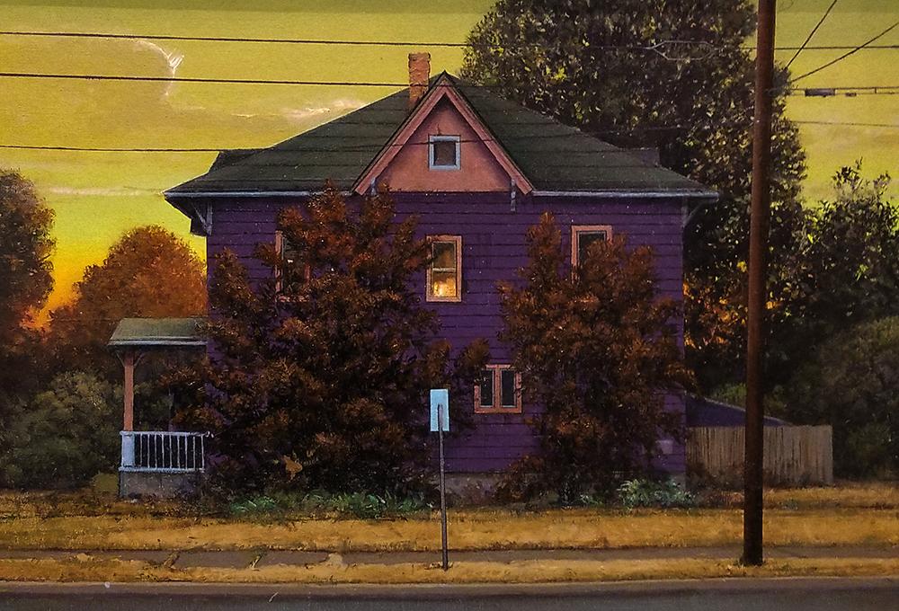 "David Higgins ""House on Spaulding Street"" 16x23 oil $2,000."