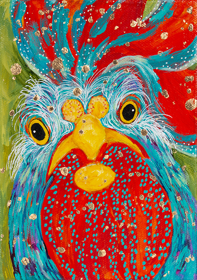 "Amy Hutto ""Beaker"" 7x5 acrylic on canvas/gallery wrap $195."