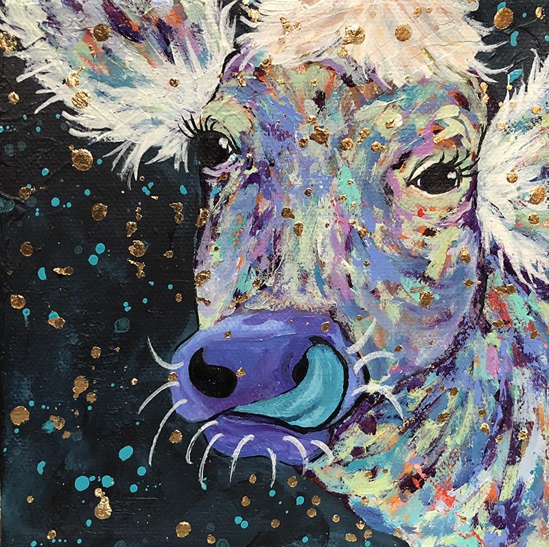 "Amy Hutto ""Nostrildamus"" 6x6 acrylic/gallery wrap $195."