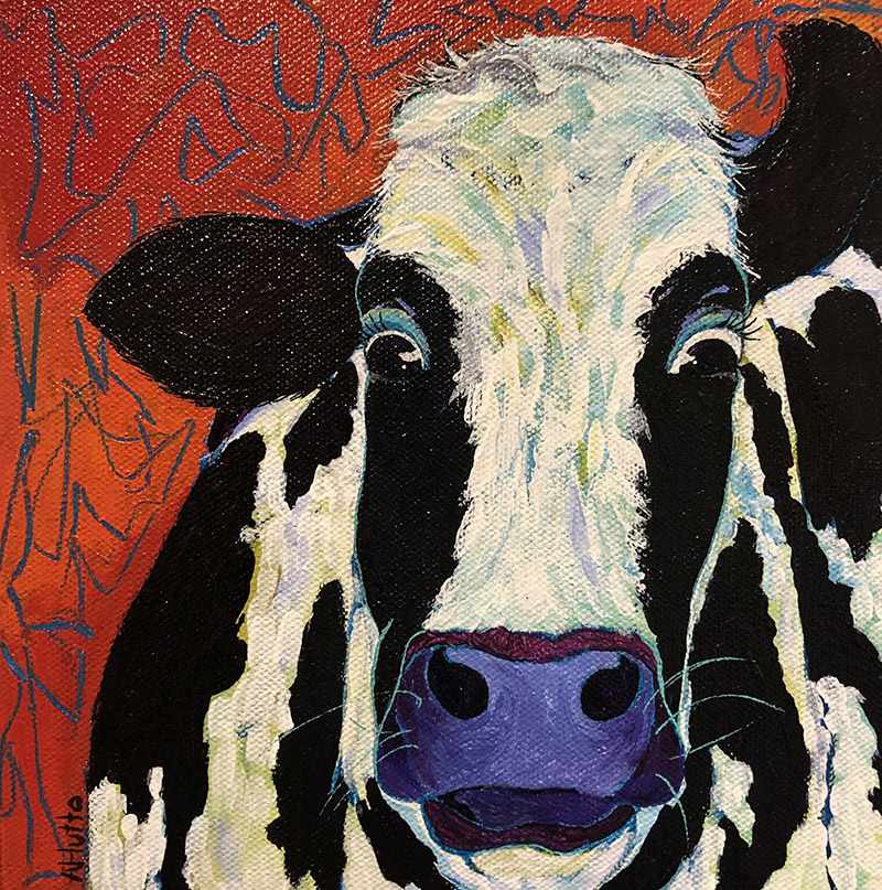 "Amy Hutto ""Peyton"" 8x8 acrylic $235. gallery wrap"