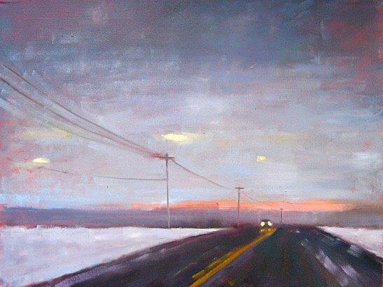 "Ileen Kaplan ""As Night Falls"" 18x24 oil $1,150."