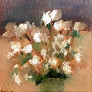 """Ileen Kaplan """"Autumn Flowers"""" 6x6 oil $295."""