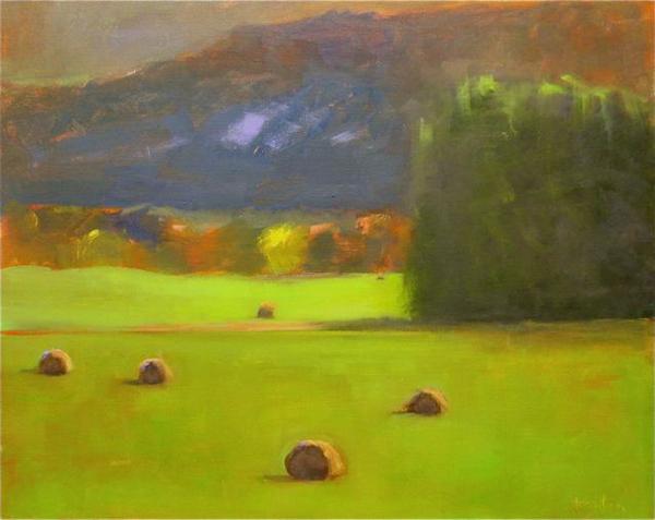 """Ileen Kaplan """"Autumn Hay"""" 16x20 oil $800. INQUIRE"""