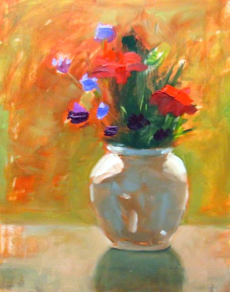 "Ileen Kaplan ""Bouquet in the Morning Sun"" 14x11 oil $550."