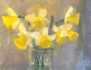 "Ileen Kaplan ""Daffodils in Sunlight"" 11x14 oil $585."