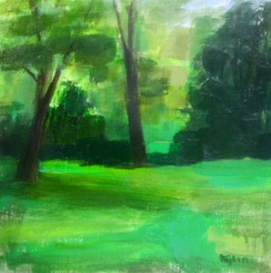 "Ileen Kaplan ""Late Summer I"" 12x12 oil $450."