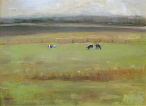 "Ileen Kaplan ""Spring Pasture"" 12x16 oil $600."
