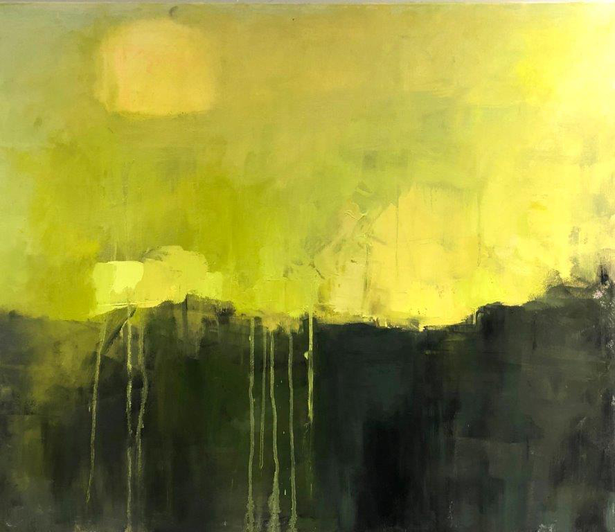 "Ileen Kaplan ""Summer Green"" 24x30 oil $1,250."