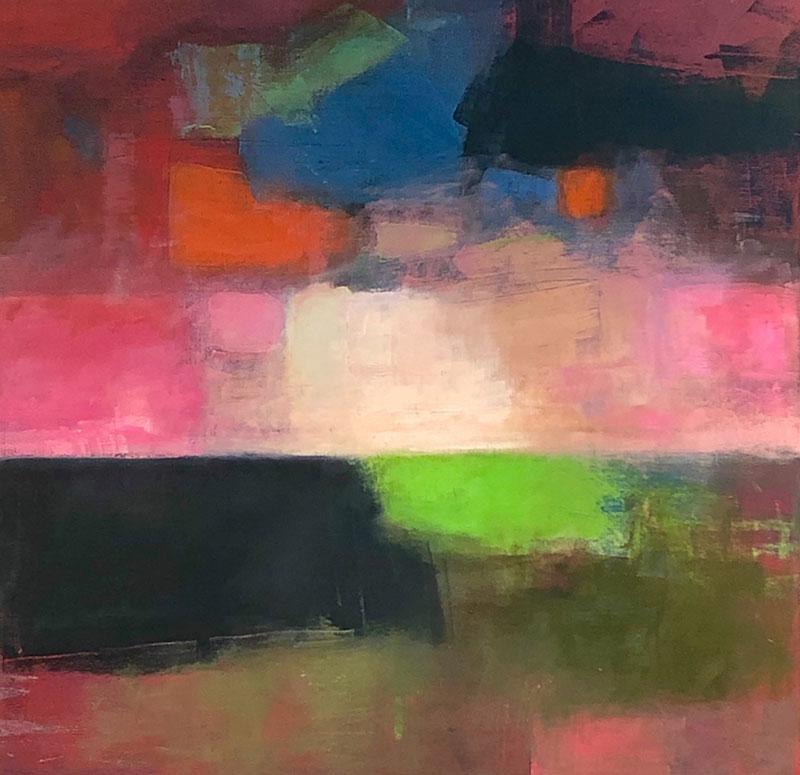 """Ileen Kaplan """"Sunset Last Light"""" 24x24 oil $1,350."""