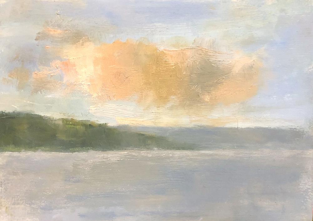 """Ileen Kaplan """"View of Keuka Lake"""" 5x7 oil $285. SOLD*"""