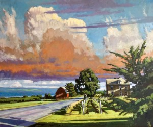 "Brian Keeler ""June Afternoon Light"" 30x36 oil/linen $3,400."