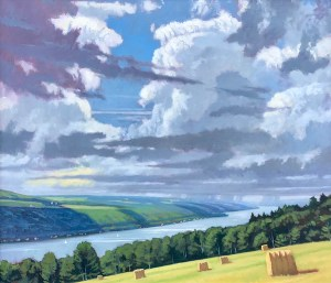"Brian Keeler ""Keuka June - Distant Thunder"" 26x30 oil $2,800."