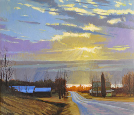 "Brian S. Keeler ""Night of the Peepers - Keuka"" 26x30 oil $2,800"