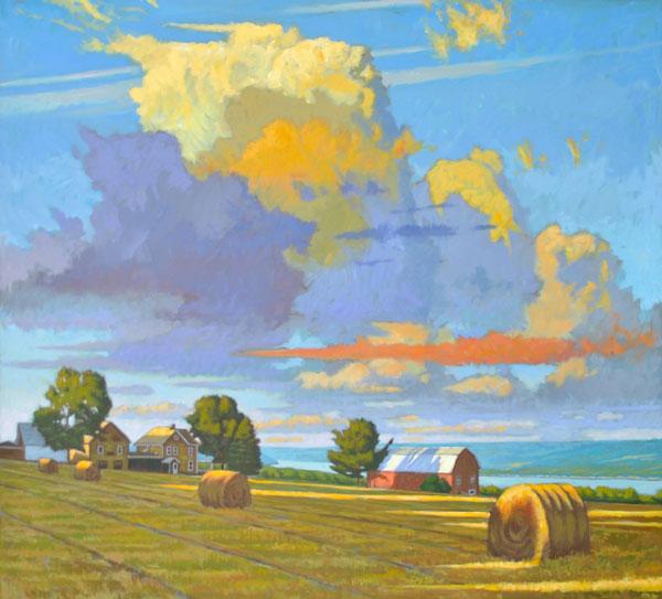"Brian Keeler ""Last Light - Keuka Solstice"" 42x46 oil $8,400."