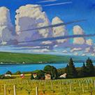 Brian Keeler - Seneca Cumulus oil painting