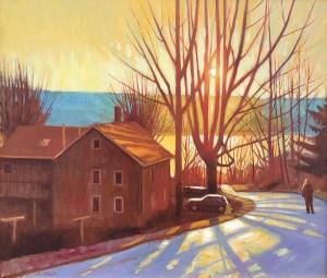 "Brian Keeler ""Seneca Light - Hector NY"" 26x30 oil $2,800."