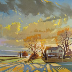 "Brian Keeler ""Seneca Spring Phelps Road"" 36x36 oil on cradled panel $4,800."