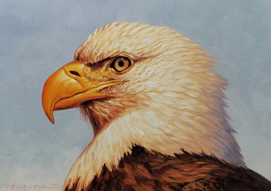 "Jennifer Miller ""Bald Eagle"" oil painting SOLD"