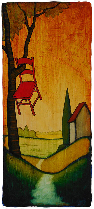 "GC Myers ""A Way of Homecoming"" 11x5 acrylic/paper $ Inquire"