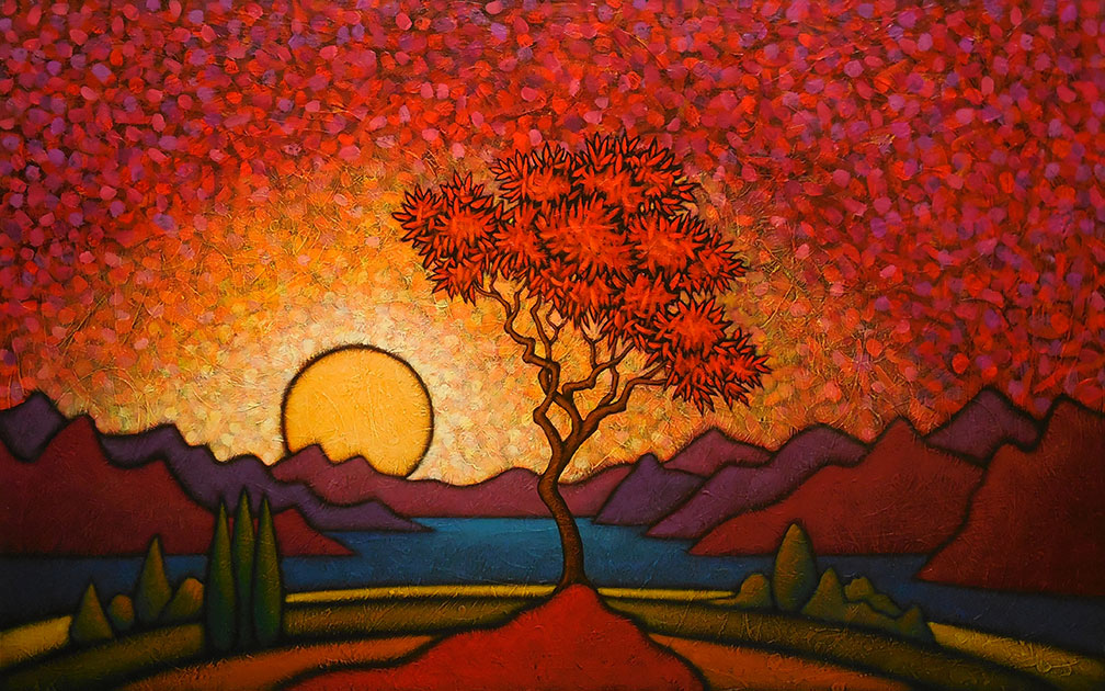 "MyersAndDuskDissolves - 2021 GC Myers:<br>""Through the Trees"""