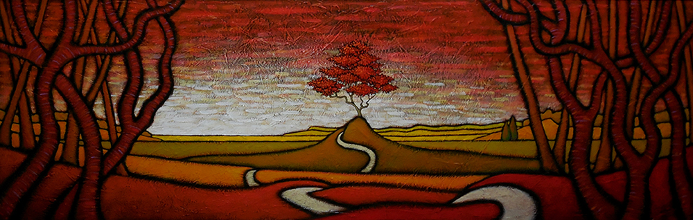 "GC Myers ""The Animating Presence"" 20x60 acrylic on canvas $ Inquire"
