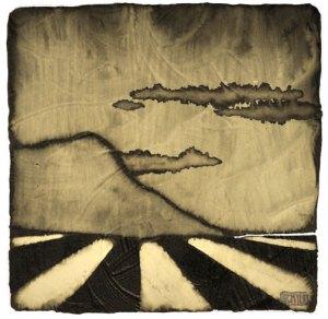 "GC Myers ""Around the Mount"" 4x4 acrylic/paper $ Inquire"