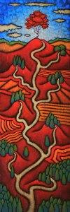 "GC Myers ""Culmination"" 36x12 acrylic/canvas $ Inquire"