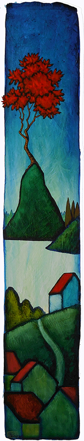 "GC Myers ""The Figurehead"" 27x5 acrylic/paper $ Inquire"