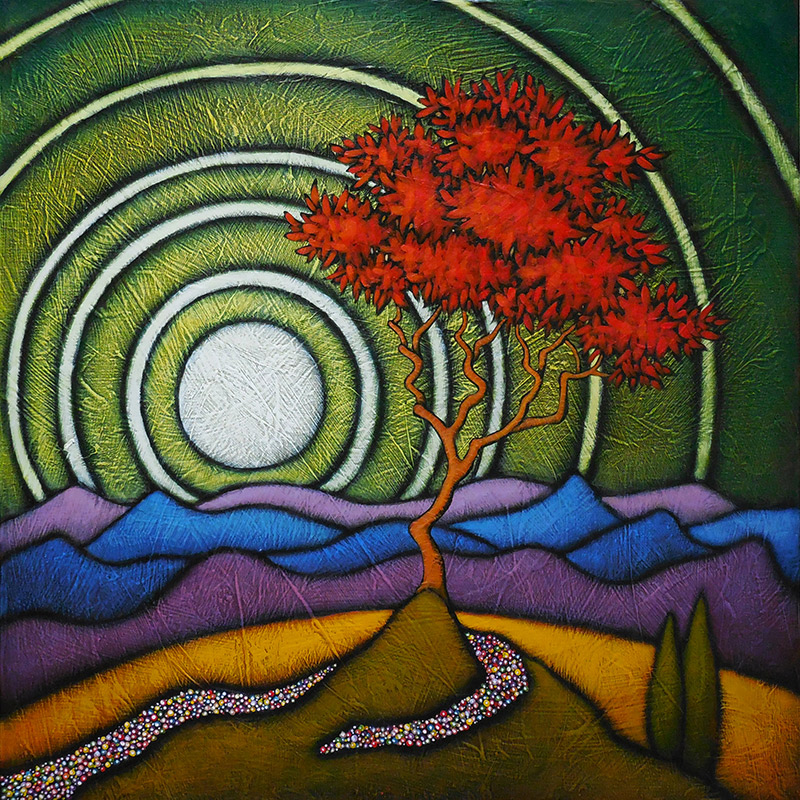 "GC Myers ""In Radiance"" 24x24 acrylic/canvas $ Inquire"