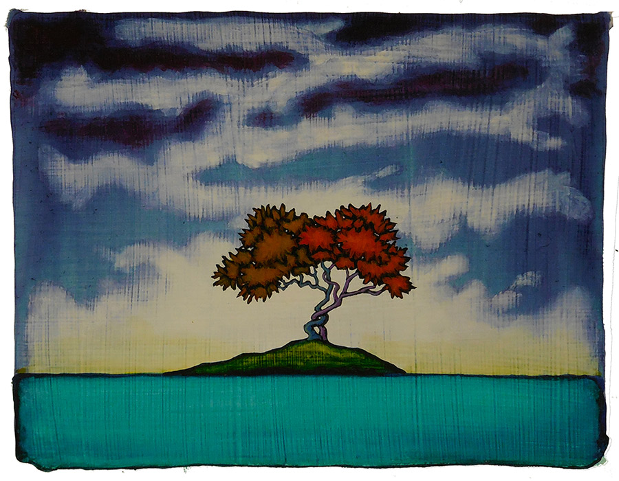"GC Myers ""Island of Bliss"" 7x9 acrylic/paper $ Inquire"
