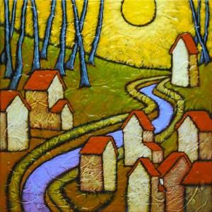 "GC Myers ""Lulling"" 12x12 acrylic/canvas SOLD"