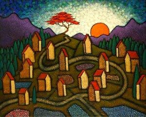 "GC Myers ""Mountain Etude"" 24x30 acrylic/canvas $ Inquire"