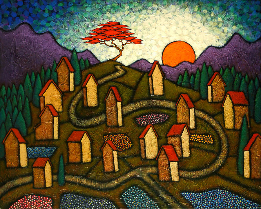 "GC Myers ""Mountain Etude"" 24x30 acrylic/canvas $ Inquire"